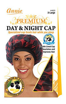 Annie Premium Day and Night Cap/Red and Black