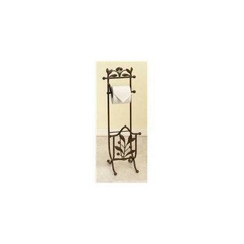 Benzara 50021 27 inch H x 9 inch W Metal Toilet Paper Holder