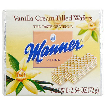 Manner Vanilla Cream Filled Wafers, 72g (Pack of 12)