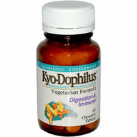 Kyolic Kyo-Dophilus Vegetarian Formula Digestion and Immune 60 Chewable Tablets