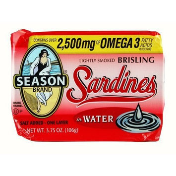 Seasons Brisling Sardines Lightly Smoked in Water -- 3.75 oz