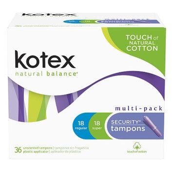 Kotex Natural Balance Security Tampons