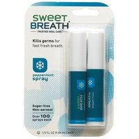 Sweet Breath Breath Spray, Peppermint, 2-Count, 0.33-Ounce Packages (Pack of 12)