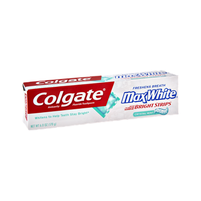 Colgate Max White with Mini Bright Strips Crystal Mint Toothpaste