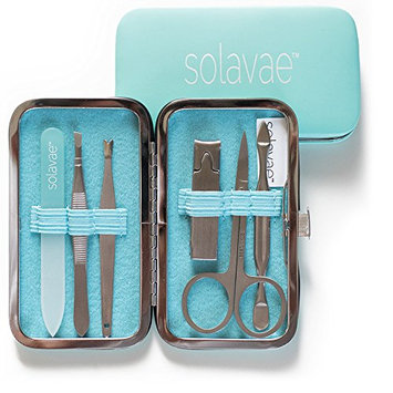 Solavae Manicure Pedicure Set with Stainless Tools