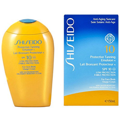 Shiseido Protective Tanning Emulsion SPF 10 for Unisex (Face and Body)