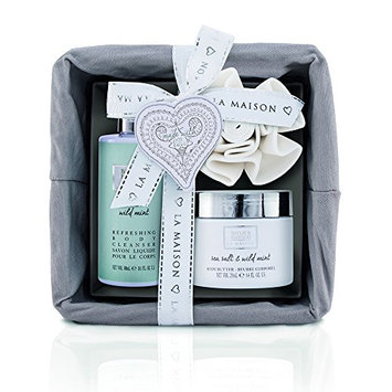 Baylis and Harding La Maison Sea Salt & Wild Mint Luxury Gift Basket