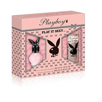 Playboy Play It Sexy 2 Piece Gift Set (1.0 Ounce Eau De Toilette Plus 8.0 Ounce DBS)