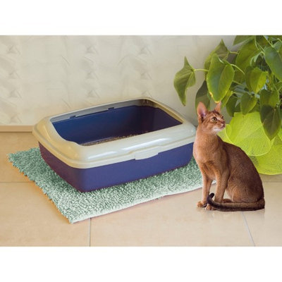 Marchioro Goa Basic Open Top Cat Litter Pan with Rim