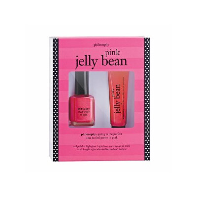 philosophy pink jelly bean duo: lip shine and i feel pretty in pink nail polish