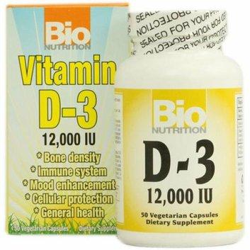 Bio Nutrition Vitamin D-3 12000 IU 50 Vegetarian Capsules