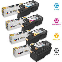 LD Compatible Dell Set of 4 HY Toner Cartridges: 1 Black 331-0778 / Cyan 331-0777 / Magenta 331-0780 / Yellow 331-0779 for the Color Laser C1760nw, C1765nf, C1765nfw, 1250C, 1350cnw, 1355cn & 1355cnw