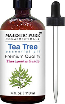 Majestic Pure Therapeurtic Melaleuca Alternifolia Tea Tree Oil With Dropper