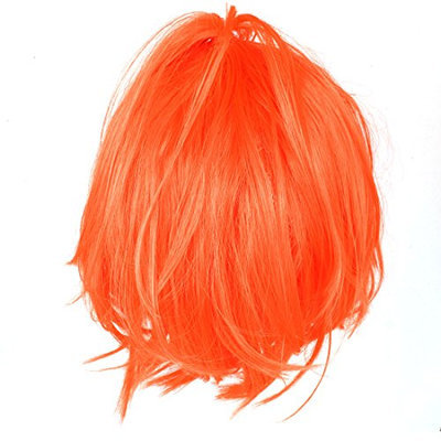 Uxcell Short Straight Flat Woman Cosplay Bangs Hair Full Wig