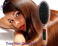 Careme Hair Straightening Brush for Beauty Salon Styling - Professional Electric Straightener Comb - Ceramic Heated Plate -Straighten Frizz Hair into Smooth Silky Straight