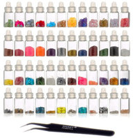 SHANY Cosmetics  3D Nail Art Decoration Mini Bottles with Nail Art Tweezer