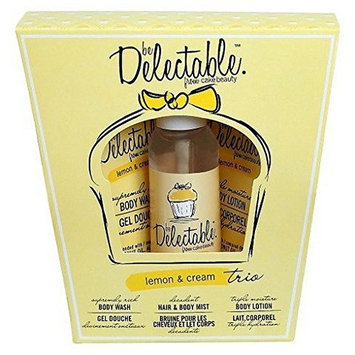 Delectable by Cake Beauty - Lemon & Cream Trio Gift Set