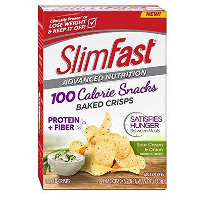 SlimFast® Advanced Nutrition 100 Calorie Snacks Sour Cream & Onion Baked Crisps, 5 ct. Box