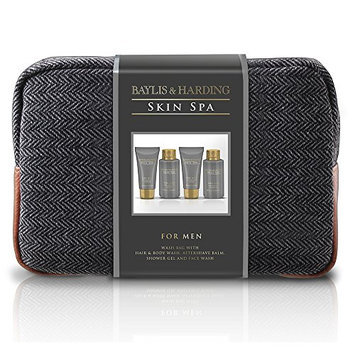 Baylis and Harding Gift for Him Men's Skin Spa Amber and Sandalwood Wash Bag Gift Set
