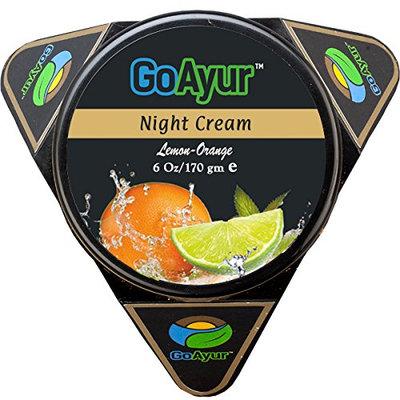 GoAyur Lemon Orange Ayurvedic Night Cream Natural Skin Whitening & Herbal Facial Night Cream