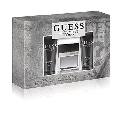 Guess Fragrance Homme 3 Piece Gift Set (1.7 Ounce Eau De Toilette Plus 2.5 Ounce Aftershave Balm Plus 2.5 Ounce Shower Gel)