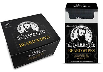 Zekes Beard Wipes Bundle Pack (10 Pack Plus 30 Pack
