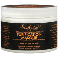 SheaMoisture Organic African Black Soap Purification Masque w/ Plantain Enzyme, Tea Tree & Willow Bark Extract