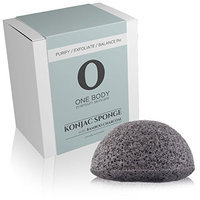 Konjac Sponge - Facial Exfoliator with Bamboo Charcoal