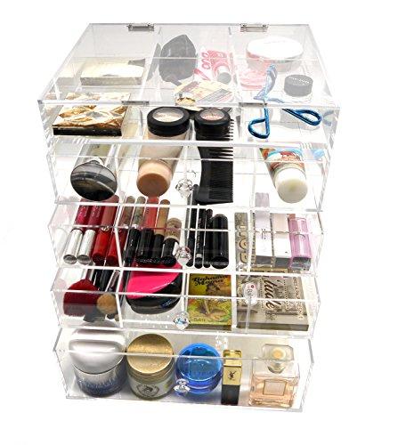 LifePlus PuTwo Organiser Kardashian Inspired 5mm Thick Acrylic Make Up Storage