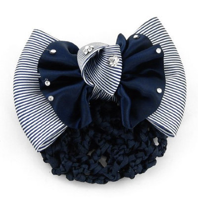 Uxcell Headdress Bowtie Accent Girl Elastic Band Nurse Hair Clip