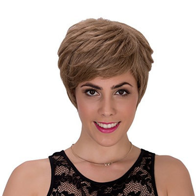 Probeauty Pixie Cut Short Mix Layered Natural Straight Capless Synthetic Wig for Women