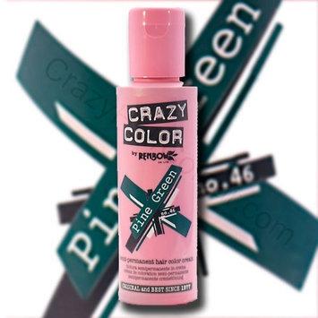 Crazy Color Semi Permanent Hair Color Cream Pine Green No.46 100ml