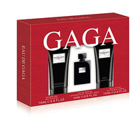 Lady GaGa Eau De Gaga 3 Piece Gift Set (0.5 Ounce Eau De Parfum Plus 2.5 Ounce Body Lotion Plus 2.5 Ounce Shower Gel)
