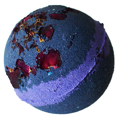 Midnight Howl Bath Bomb- Purple and Blue Bath Bomb with Rose Petals- Cruelty Free