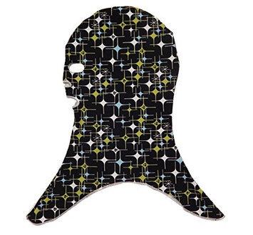 Facekini Black Stars Sun Protection Mask for The Face And Head