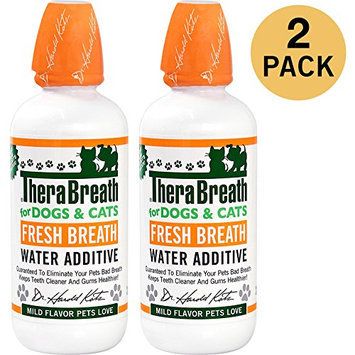 TheraBreath Fresh Breath & Healthy Gums Water Additive for Dogs and Cats 2 Pack