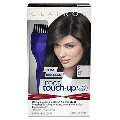 Clairol Nice 'n Easy Root Touch-Up 003 Black 1 Kit (Pack of 2)