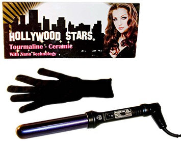 Hollywood Stars Tourmaline Ceramic Professional 32mm Hair Curling Iron Dual Voltage American Plug HAI CHI 110-240V with Glove