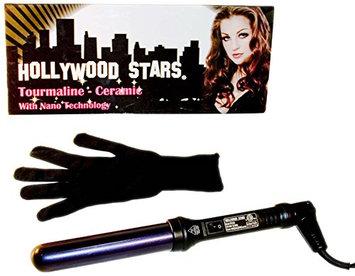 Hollywood Stars Tourmaline Ceramic Professional 32mm Hair Curling Iron Dual Voltage American Plug HAI CHI 110-240V with Glove