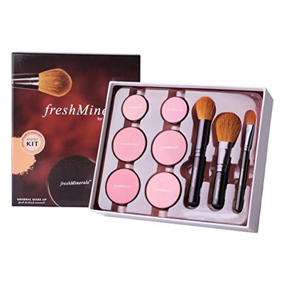 Freshminerals 9 Piece Mineral Powder Foundation Starter Kit