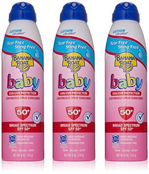 Banana Boat Baby Sunscreen Ultra Mist Tear-Free Sting-Free Broad Spectrum Sun Care Sunscreen Spray - SPF 50