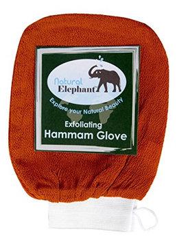 Natural Elephant Exfoliating Hammam Glove - Face and Body Exfoliator Mitt (Burnt Orange)