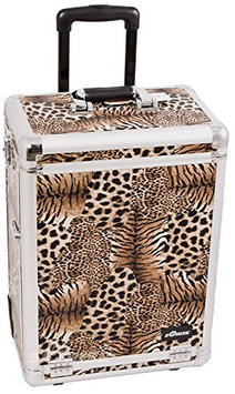 Sunrise Interchangeable Pro Rolling Cosmetic Makeup Case with Large Drawers