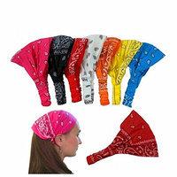 CoverYourHair 28382 5 Assorted Paisley Print Wide Bandana Headbands