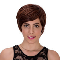 Probeauty Ombre Natural Straight Short Synthetic Hair Women Ladies Daily Use Replacement Wig