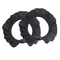 Uxcell 2 Piece Rubber Ruffle Bead Decor Ponytail Holder/Hairband Rings