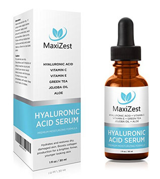 HYALURONIC ACID SERUM for skin - Deep Moisture Anti Aging Serum for Dry Skin. Plumps