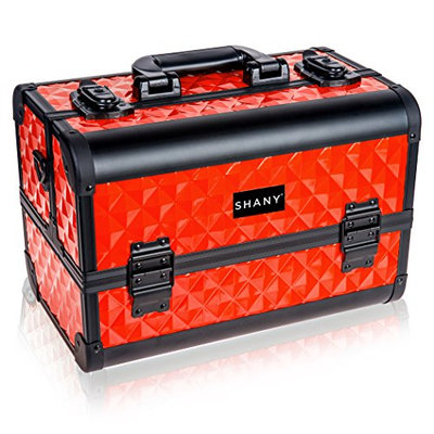 SHANY Premier Fantasy Collection Makeup Artists Cosmetics Train Case - Runway Red