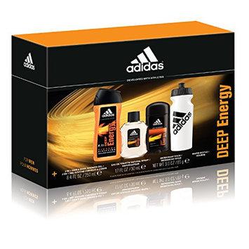 Adidas Personal Care Deep Energy 3 Piece Gift Set (8.4 Ounce Body Wash Plus 1.7 Ounce Eau De Toilette Plus 3 Ounce Deodorant)