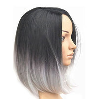 Black/White Ombre Wig